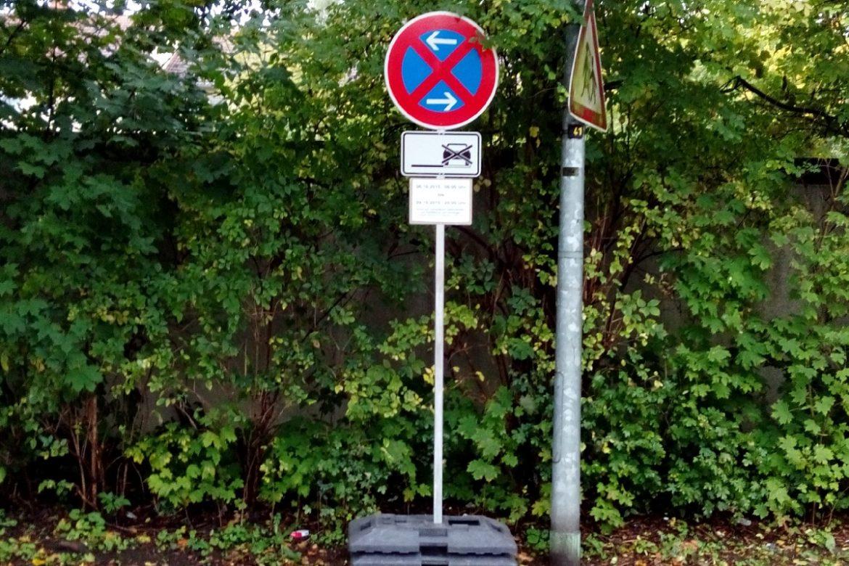 Verkehr Schilder Halteverbot VZ 283 (3)
