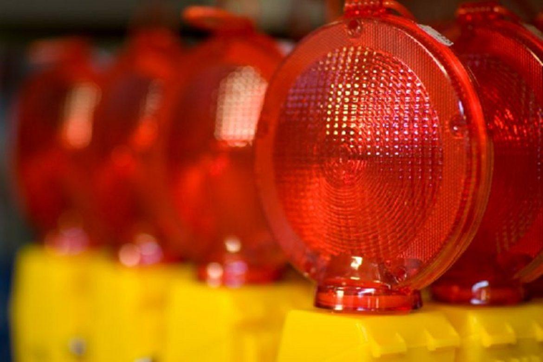 Verkehr Zubehör Verkehrsbeschilderung LED Baustellenlampe Warnleuchte